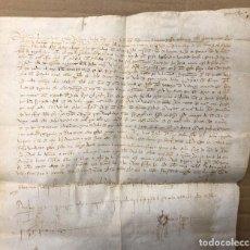 Manuscritos antiguos: ESCRITURA DE VENTA POR VECINA DE JAEN A FAVOR DE VECINOS DE BAEZA, CORDOBA. AÑO 1408. Lote 206218785