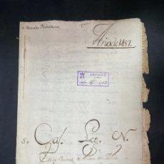 Manuscritos antiguos: ÉCIJA, 1487. CENSO ENFITEUTICO OTORGADO POR GONZALO RUIZ MONTEMOLLIN. LEER. Lote 206219207