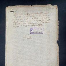 Manuscritos antiguos: ÉCIJA, 1559. PAGO DE 1500 MAREVEDIS POR OLIVAR EN LA ZONA DE MATALLANA. LEER. Lote 206219493