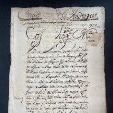 Manuscritos antiguos: ÉCIJA, 1546. TESTAMENTO DE ALONSO DE ERASO Y MARIA GALINDO. FACULTAD DEL EMPERADO D. CARLOS. LEER. Lote 206220418