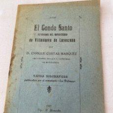 Manuscritos antiguos: DATOS BIOGRÁFICOS DEL MONASTERIO DE VILLANUEVA EN LORENZANA (LUGO) EN 1907. Lote 206226940