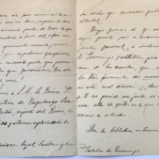 Manuscritos antiguos: CARTA FRANCISCO ANTÓN ZAMORA 1901 SOBRE ORFEÓN EL DUERO. Lote 206280446