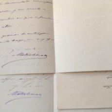 Manuscritos antiguos: 3 CARTAS MATEO SILVELA DIPUTADO CORTES BENAVENTE 1898. Lote 206281313