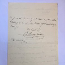 Manuscritos antiguos: CARTA MANUSCRITA PIERNAS HURTADO 1900. Lote 206281638