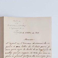 Manuscritos antiguos: RARÍSIMA CARTA MANUSCRITA DEL COMPOSITOR TEODORO SAN JOSÉ. 1899 EN FRANCÉS. Y LIBRO ADJUNTO... Lote 206304903