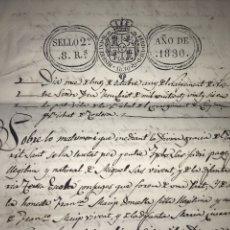 Manuscritos antiguos: CAPÍTULOS MATRIMONIALES EN CATALÁN. 1826. LLOC DE BISBAL DEL BISBAT DE TORTOSA. SELLO SEGUNDO 1830. Lote 206305623