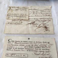 Manuscritos antiguos: CARLOS III 1768 RECIBO DE COLECTOR DE SUBSIDIO. Lote 206310312