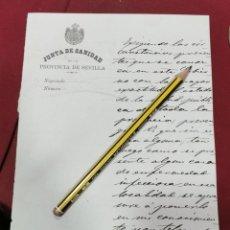 Manuscritos antiguos: SEVILLA, 1884, JUNTA DE SANIDAD, SOLICITUD INFORMACION SOBRE ENFERMEDADES INFECCIOSAS. Lote 206333558