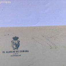 Manuscritos antiguos: ALCALDE DE ZAMORA 1901SOLICITA ACTUACIÓN ORFEÓN DUERO DOMINGO RESURRECION EN SAN MARTIN. Lote 206375037