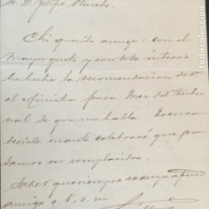 Manuscritos antiguos: CARTA MANUSCRITA JOSE MURO DIPUTADO CORTES VALLADOLID 1998 1901. Lote 206375677