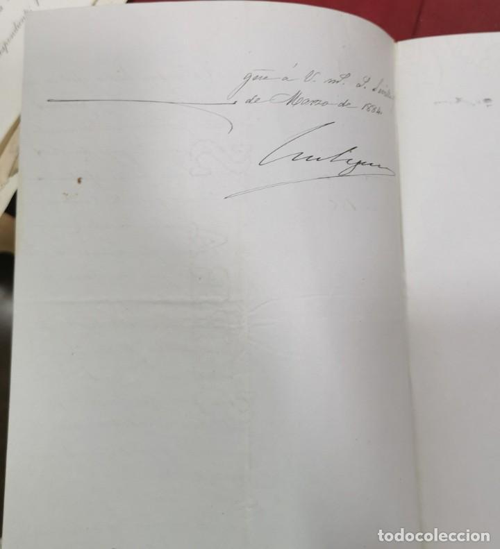 Manuscritos antiguos: 1884, COMUNICACION PAGO EXPROPIACIONES OBRA CARRETERA SEVILLA - VILLAMANRIQUE - Foto 2 - 206378117
