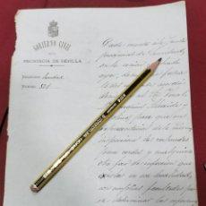 Manuscritos antiguos: SEVILLA, 1884, NOMBRAMIENTO VOCAL JUNTA DE SANIDAD PARA INSPECCION ZAHURDAS DE CERDOS, INFECCIONES. Lote 206384491