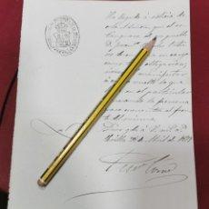 Manuscritos antiguos: SEVILLA, 1884, INSPECCION A ESTANQUERO POR NO ESTAR EN EL NEGOCIO. Lote 206384741