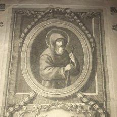Manuscritos antiguos: CARTA HERMANDAD MÍNIMOS CONVENTO DE LA VITORIA DE ZARAGOZA. 1787. 51X36 CM. GRABADO.. Lote 206422306