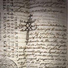 Manuscritos antiguos: 1756. VENTA DE VECINO DE LA PALMA, TORTOSA, BARONIA DE CABASSES. UN CUARTO DE JORNAL DE TIERRA.. Lote 206460468
