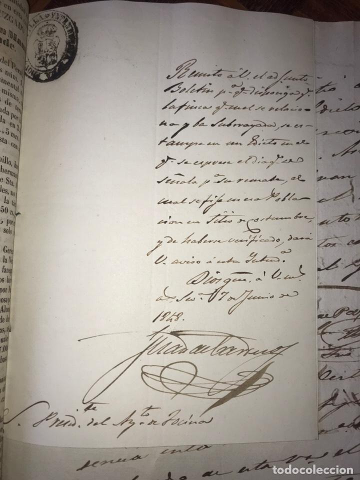 Manuscritos antiguos: 1848 DESAMORTIZACIÓN PROVINCIA DE SEVILLA. ANUNCIO BIENES A SUBASTAR FINCAS NACIONALES. LORA DEL RIO - Foto 6 - 206461525