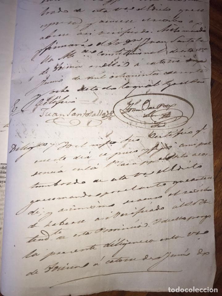 Manuscritos antiguos: 1848 DESAMORTIZACIÓN PROVINCIA DE SEVILLA. ANUNCIO BIENES A SUBASTAR FINCAS NACIONALES. LORA DEL RIO - Foto 7 - 206461525