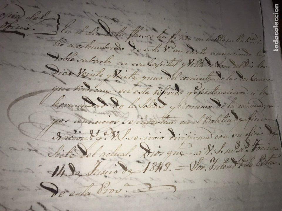 Manuscritos antiguos: 1848 DESAMORTIZACIÓN PROVINCIA DE SEVILLA. ANUNCIO BIENES A SUBASTAR FINCAS NACIONALES. LORA DEL RIO - Foto 8 - 206461525