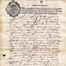 Manoscritti antichi: 1642 ALFARO (LA RIOJA) SELLO FISCAL 2º DE 68 MRS DOCUMENTO MANUSCRITO PAPEL SELLADO MONASTERIO. Lote 206531738
