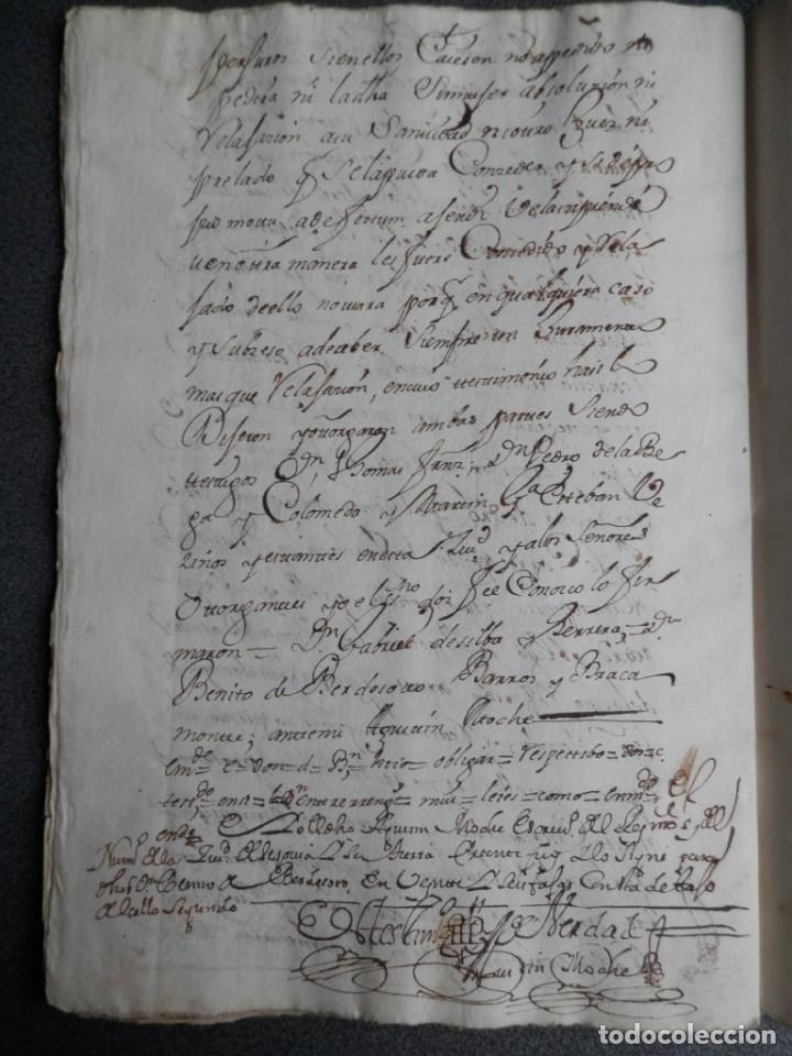 Manuscritos antiguos: MANUSCRITO AÑO 1736 FISCAL 2º RARO LUJO SEGOVIA ESCRITURA DE CONVENIO 53 PÁGS - Foto 2 - 206762687