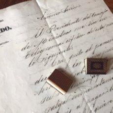 Manuscritos antiguos: CARTA SUBSECRETARIO MIGUEL BAÑUELOS AL MINISTRO DE ULTRAMAR D. LÓPEZ BALLESTEROS 1864.. Lote 206774098