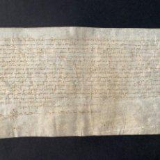 Manuscritos antiguos: 1364 - DOCUMENTO MEDIEVAL EN PERGAMINO - 40X22CM - GRANOLLERS - APOCA. Lote 206795767