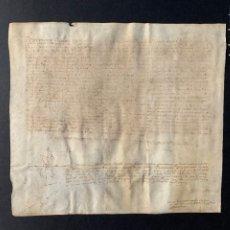 Manuscritos antiguos: 1515 - DOCUMENTO MANUSCRITO - PERGAMINO - 30X33CM. Lote 206796966