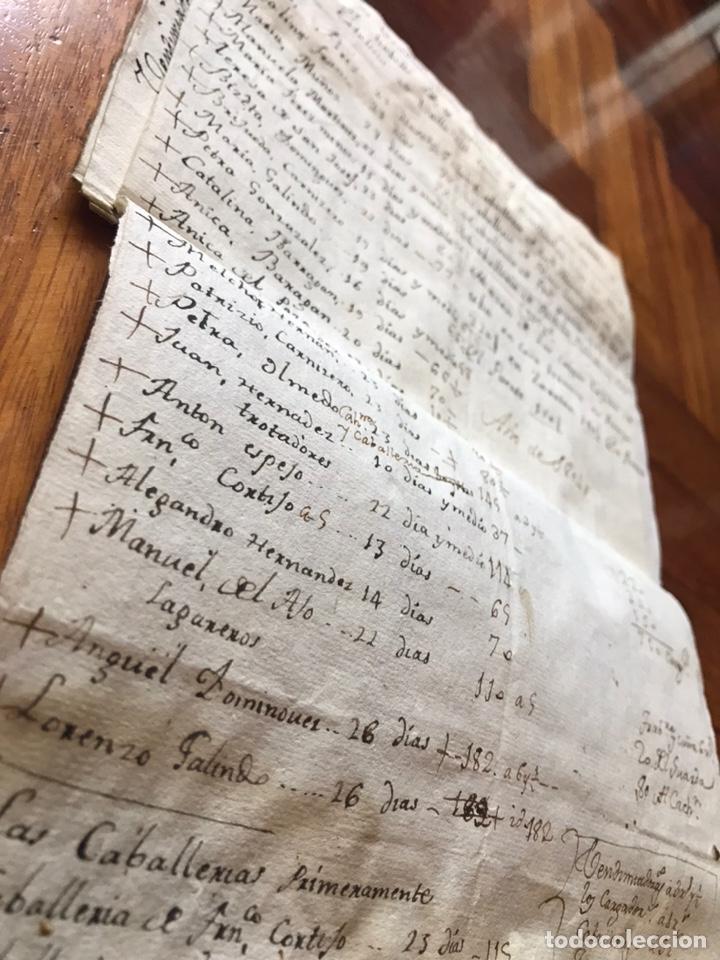 Manuscritos antiguos: MANUSCRITO VINO, VENDIMIA, VENDIMIADORAS 1804. ZARATÁN, VALLADOLID. COBANILLEROS, TROTADORES, CABALL - Foto 2 - 206960553