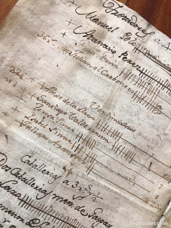 Manuscritos antiguos: MANUSCRITO VINO, VENDIMIA, VENDIMIADORAS 1804. ZARATÁN, VALLADOLID. COBANILLEROS, TROTADORES, CABALL - Foto 4 - 206960553
