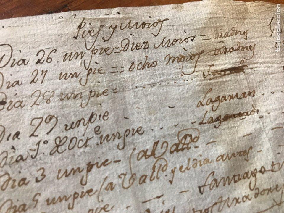 Manuscritos antiguos: MANUSCRITO VINO, VENDIMIA, VENDIMIADORAS 1804. ZARATÁN, VALLADOLID. COBANILLEROS, TROTADORES, CABALL - Foto 8 - 206960553
