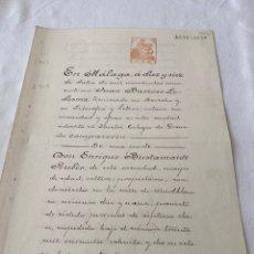 Manuscritos antiguos: ALFONSO XIII 1909 CLASE TERCERA (3) 50 PESETAS NARANJA. Lote 207275478