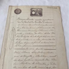 Manuscritos antiguos: ALFONSO XIII 1893 CLASE NOVENA (9) 4 PESETAS. Lote 207277377