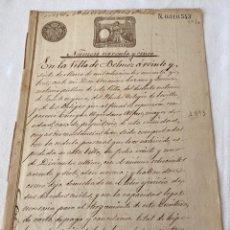 Manuscritos antiguos: ALFONSO XIII 1893 CLASE DÉCIMA (10). TRES PESETAS. Lote 207278165