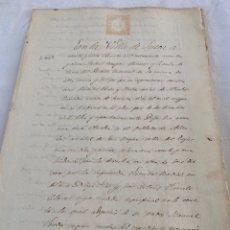 Manuscritos antiguos: ISABEL II 1865 SELLO SEPTIMO (7) OCHO REALES. Lote 207300633