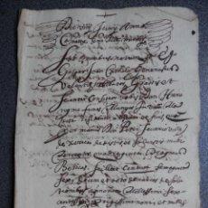 Manuscritos antiguos: MANUSCRITO AÑO 1643 VALENCIA APOCA SOBRE UN JURO. Lote 207338446