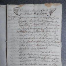 Manuscritos antiguos: MANUSCRITO AÑO 1672 MONFORT Y NOVELDA ALICANTE HIPOTECA CENSO 8 PÁGS ESCRITO EN VALENCIANO. Lote 207338705
