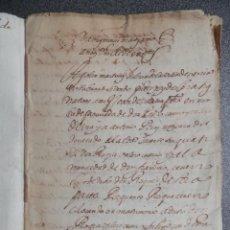 Manuscritos antiguos: MANUSCRITO AÑO 1637 JÉRICA CASTELLÓN DECRETO DE CONDENA DEL JUSTICIA DE LA VILLA - CASTELLANO. Lote 207339517