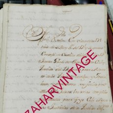 Manuscritos antiguos: 1751, ALCALDE MAYOR DE SEVILLA, ORDENES PARA ASISTIR A POBRES MENDIGOS, FIRMA CONDE DEL AGUILA. Lote 207524550