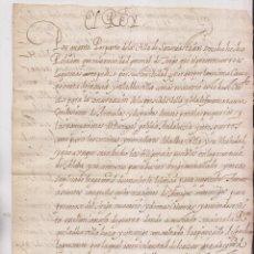 Manuscritos antiguos: COPIA MANUSCRITA DEL SIGLO XVII. NECESIDAD TRIGO PRESIDIOS FUENTERRABÍA Y SAN SEBASTIÁN. PAÍS VASCO. Lote 207544643
