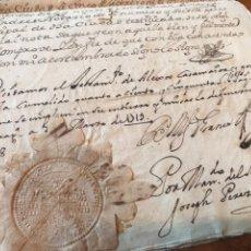 Manuscritos antiguos: 1719 SELLO TERCERO. TESTAMENTO ALEJO CASAMAYOR, VECINO ZARAGOZA. SELLO ARZOBISPO DE ZARAGOZA.. Lote 207906130