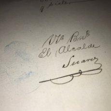 Manuscritos antiguos: SELLO 14 1896 Y 97. FIRMA ALCALDE DE TRINIDAD, CUBA. CERTIFICADO DEL PRECIO DE CARGA EN PUERTO.. Lote 207907288