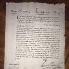 Manuscritos antiguos: RECAUDACIÓN PARA LA ILUMINACIÓN DE LAS CALLES DE MADRID. CALLE DE SANTA ISABEL. 1783. VIUDA PANDO. Lote 207911636