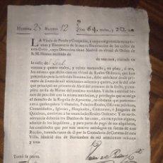 Manuscritos antiguos: RECAUDACIÓN PARA LA ILUMINACIÓN DE LAS CALLES DE MADRID. CALLE DEL LEAL 12. 1783. VIUDA PANDO. Lote 207911755