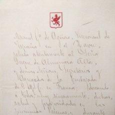 Manuscritos antiguos: MANUEL GARCÍA DE AGÜERO, VICECÓNSUL DE ESPAÑA. LA HAVRE. DUQUE DE ALMENARA. 1890.. Lote 178956360