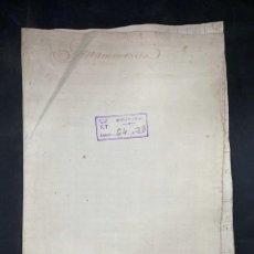 Manuscritos antiguos: CADIZ, 1797. TESTAMENTO. MISAS. FRANCISCA DE PAULA ISSASI. LEER. Lote 208218410