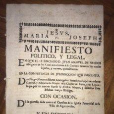 Manuscritos antiguos: 1640. 2 DESPACHOS DE OFICIO. ERROR, VARIANTE DESPACHOS DO OFICIO. CAMPO DE CORTES, LEGANIEL, CUENCA.. Lote 208218122