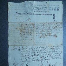 Manuscritos antiguos: TIMBROLOGÍA MUY RARO SELLO AÑO 1724 OFICIOS HABILITADO REY LUIS I GRANADA AUTO JUDICIAL. Lote 208316047
