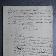 Manuscritos antiguos: GUERRA FILIPINAS EXTENSO INFORME MANUSCRITO AÑO 1880 GOBERNADOR GENERAL D MORIONES -INÉDITO. Lote 208875101