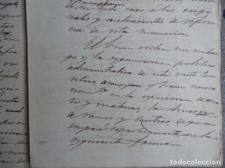 Manuscritos antiguos: GUERRA FILIPINAS EXTENSO INFORME MANUSCRITO AÑO 1880 GOBERNADOR GENERAL D MORIONES -INÉDITO - Foto 2 - 208875101