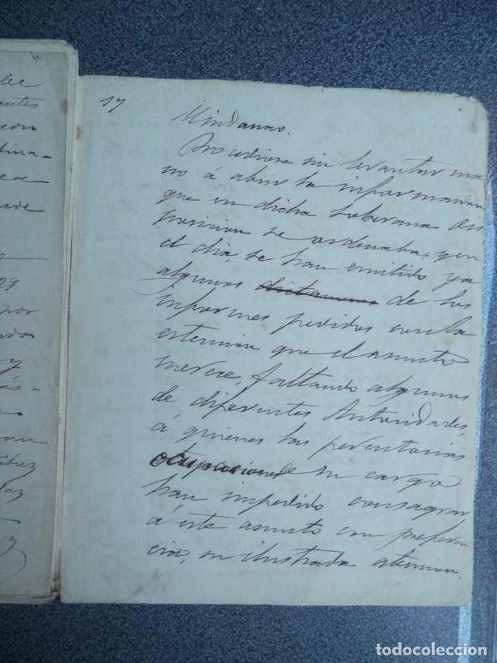 Manuscritos antiguos: GUERRA FILIPINAS EXTENSO INFORME MANUSCRITO AÑO 1880 GOBERNADOR GENERAL D MORIONES -INÉDITO - Foto 9 - 208875101